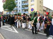 Marching column at rest