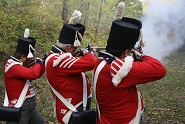 We use flintlock (shown here) and percussion