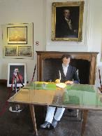 Lord Wellingtion writing his memorandum about the battle of June 18